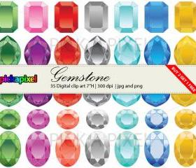 Gemstone - clip art - Personal and Commercial Use