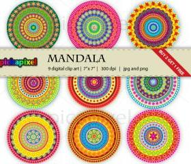 Mandala - clip art - Personal and Commercial Use