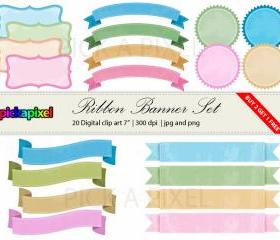Digital Frames & Ribbons Set - Personal and Commercial Use
