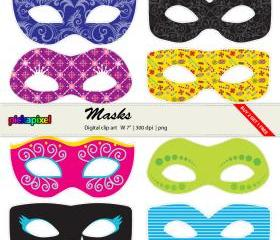 Masks - clip art - Personal and Commercial Use