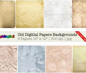 Digital Old Papers Backgrounds - clip art - Personal and Commercial Use